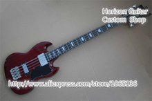 Reliable Quality Best Service 8 Strings SG Custom Electric Guitar Bass Red Finish In Stock China Guitars Factory