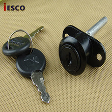 Black drawer lock three chain linked lock front lock three chain head furniture lock 16mm/19mm