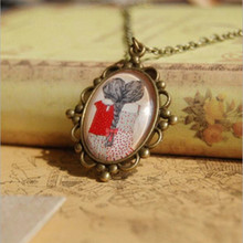 Cute Exquisite Personality Creative Handmade Jewelry Popular Girl Back Long Hair Female Friend Gift Pendant Necklaces D118(China)