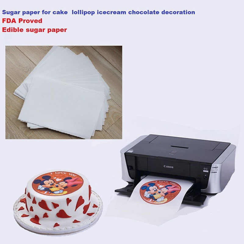 photo relating to Edible Printable Paper for Cakes identified as A4 10computer systems/large amount edible rice paper for cakes lollipop icecream chocolate food stuff printing and decoration