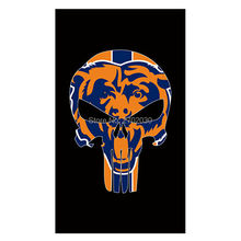 Skeleton Design Chicago Bears Flag Banners Football Team Flags 3x5 Ft Super Bowl Champions Banner Red Star World Series 90x150