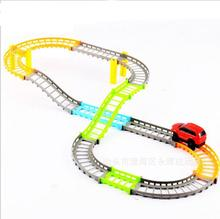 Kids  Electric Trains Tracks Baby Boys Children Rail Cars Set Run Track Game Toy Blocks toys for children  #XTT
