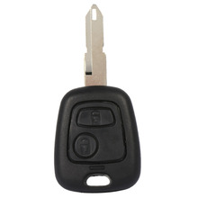 2 Buttons Uncut Blank Blade Remote Auto Car Key Fob Shell Case Replacement For Peugeot 206