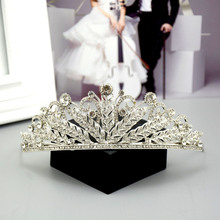 HG222 factory direct rhinestone alloy crown bridal jewelry tiara wedding accessories summer jewelry women hair accessories