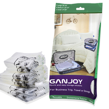 10pcs GANJOY Travel Space Saver Bags No Vacuum Needed for Travel Space Saver Travel Compress Vacuum Roll-Up Storage Bag 5*42cm
