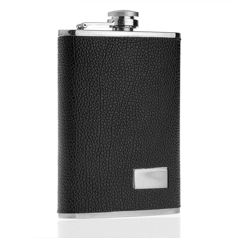 Lucuas  Gift Stainless Steel Hip Flask 9 oz Flagon Portable Wine Whisky Pot Bottle Groom Best man Xmas New Year Gift