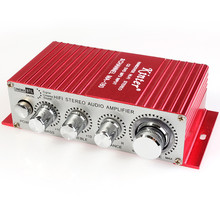 Kinter MA-180 DC12V 2-CH Mini Hi-Fi AMP Stereo USB Car Boat Audio Auto Power Amplifier Support DVD/MP3/ipod Input(China)