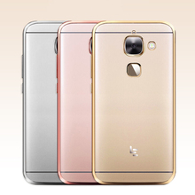 "For Letv Leeco Le2 X527 Case Silicone Gold Plating TPU Case Clear Soft Cover For Letv Leeco Le S3 X622 X626 / Le 2 Pro X620 5.5""(China)"