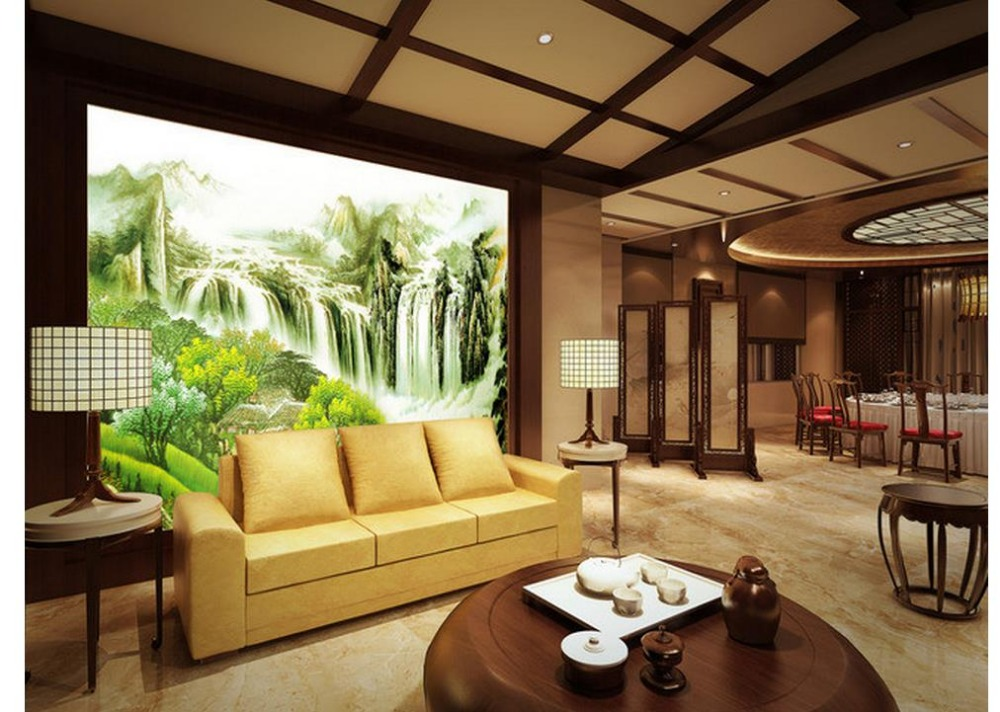 3d customized wallpaper Home Decoration Mountains and rivers landscape background wall mural 3d paintings<br>