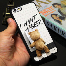 Ted I want a beer Black Phone Case for iPhone 5S 5 SE 5C 4 4S 6 6S 7 Plus Cover ( Soft TPU / Hard Plastic for Choice )