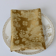 20pcs 48*48cm Luxury Handkerchief Square Cloth For Hotel Restaurant Dinner Table Wedding Party Decorative Floral Folding Napkin