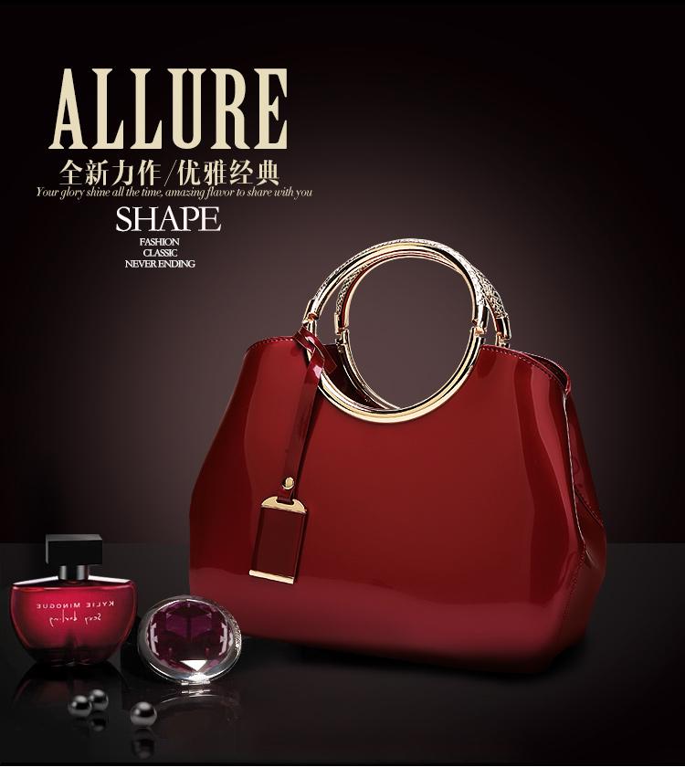 New High Quality Patent Leather Women bag Ladies Cross Body messenger Shoulder Bags Handbags Women Famous Brands bolsa feminina (3)
