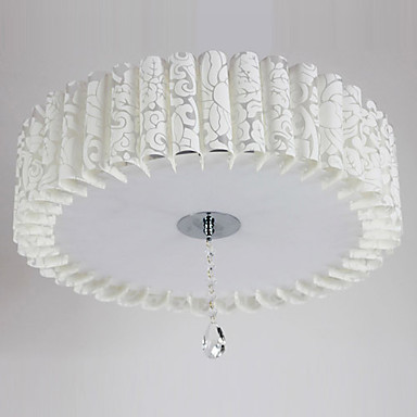 LED Flush Mount, 3 Light, Country White Acrylic PVC Painting 110-240v Free Shipping<br><br>Aliexpress