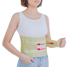 1Pcs Posture Adjustable Neoprene Double Pull Lumbar Support Lower Back Belt Brace Pain Relief Band Waist C623(China)
