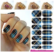 New fashion water transfer foil nail stickers all kinds of nail art design patterns fashion decorative decal K602(China)