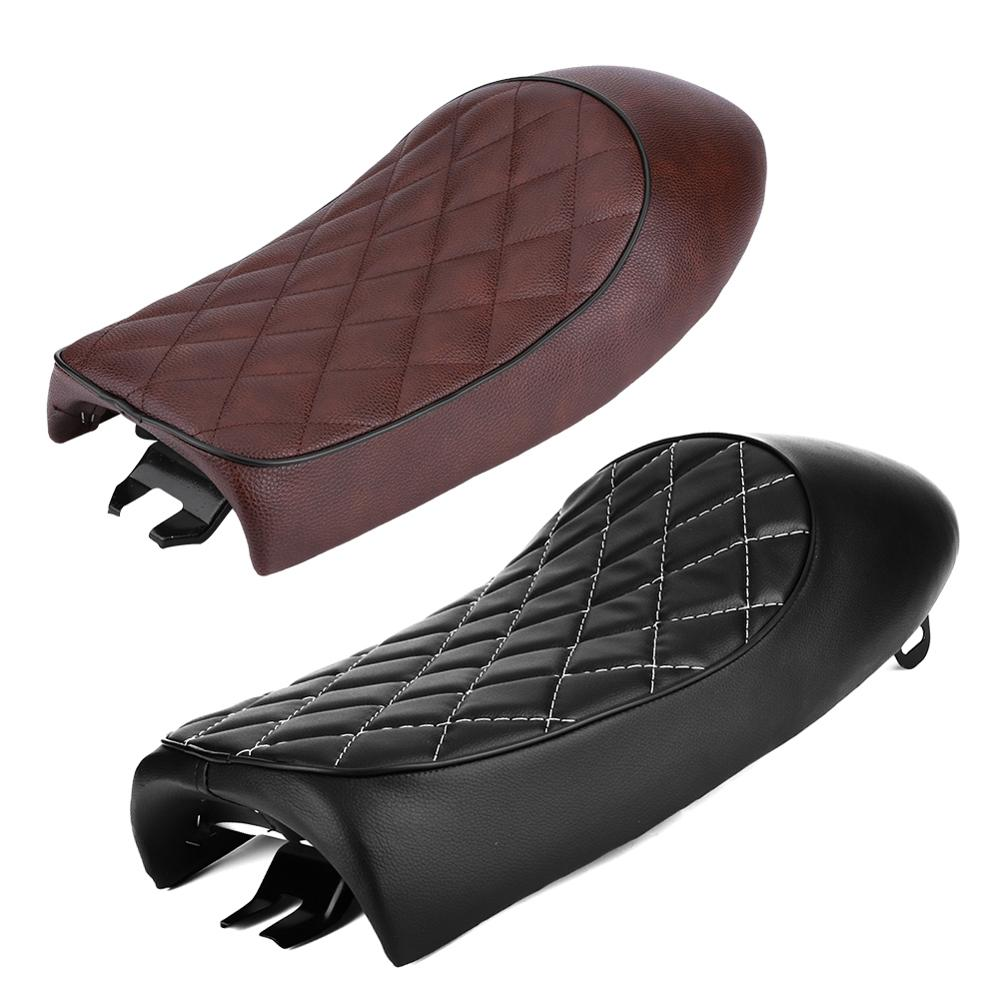 Cafe Racer Seat Cushion Vintage Motorcycle Custom Saddle Seat For Honda CG 125 Yamaha Brat Seat Flat Black