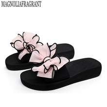 2017 Bow Thong Jelly Shoes Woman Jelly Flip Flops Women Sandals Ladies Flat Slippers Zapatos Mujer Sapatos Femininos b1(China)