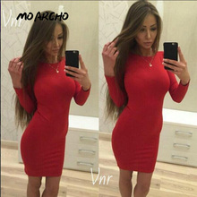 Buy MOARCHO women autumn dress O-neck mini sheath sexy club dresses 2017 fashion winter bodycon long sleeve party dress for $5.69 in AliExpress store