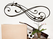 Music Note Wall Decal Infinity Sign Vinyl Sticker Decals Musical Notes Waves Music Wall  Recording StudioDecor Nursery Bedroom