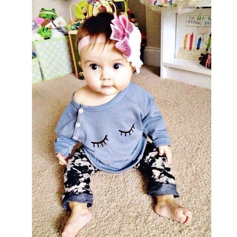 2016 New Autumn Baby Girls Clothing Set Cute Cotton Cute Long Sleeve T-shirt Top+Pants 2 Pcs Suit Lovely Bebe Clothes<br><br>Aliexpress