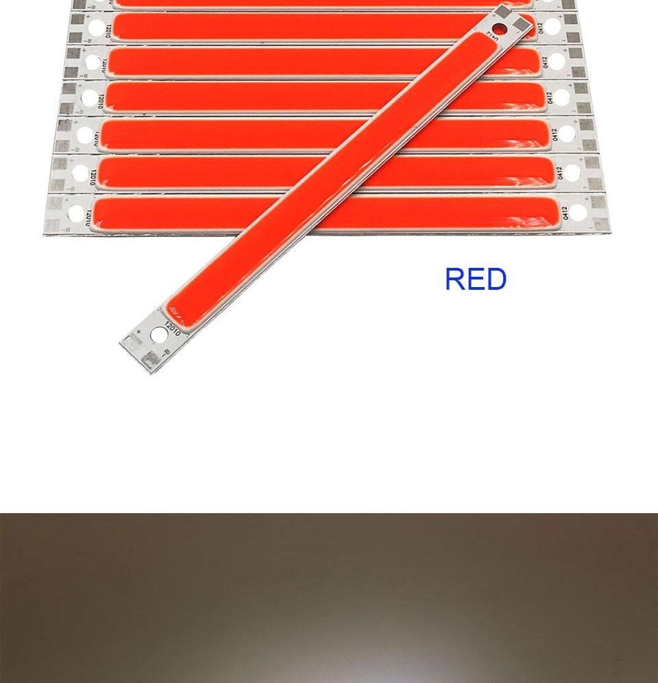 120mm 4.72in LED Bar Light Strip COB Bulb 12V 7W 10W LED Lamp Green Blue Red White Emitting Colors 12010mm COB Chip (11)