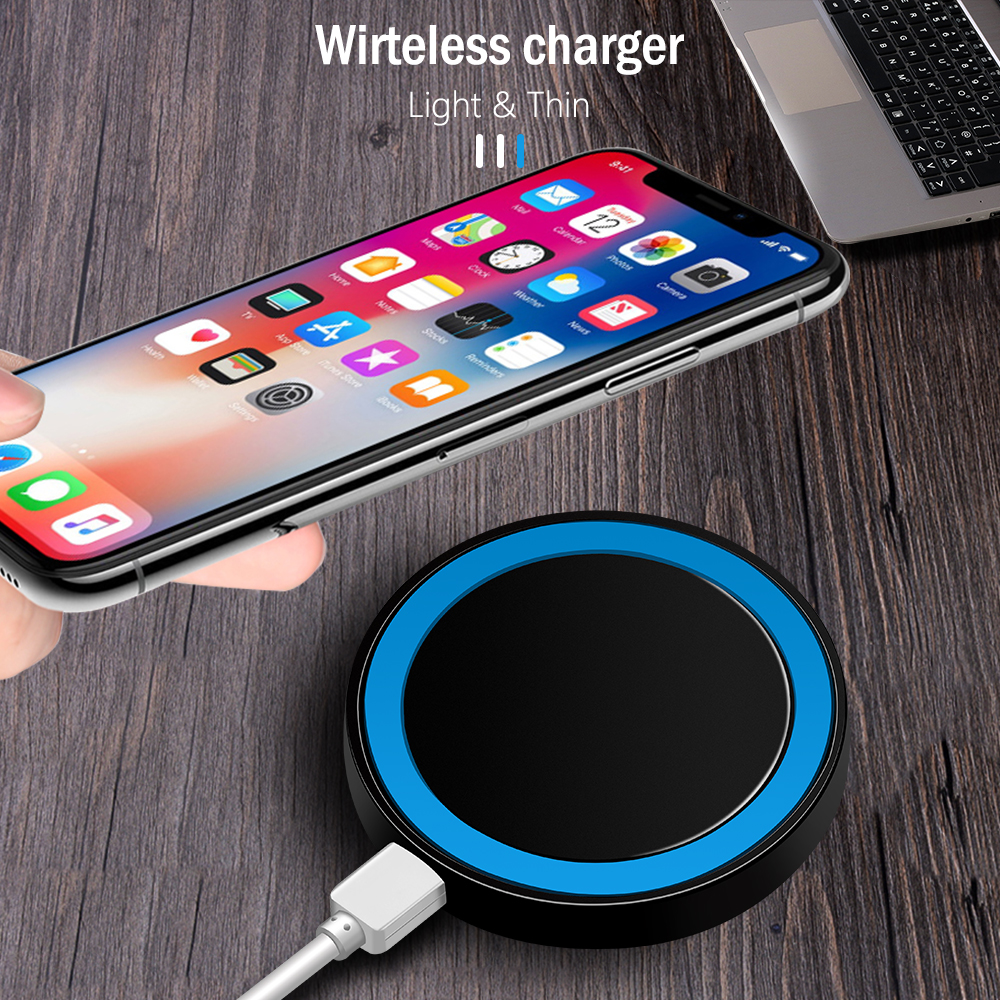 Proelio Mini Qi Wireless Charger USB Charge Pad Charging For iPhone X 8 8 Plus Samsung Galaxy S6 S7 Edge S8 Plus Note 5 8 Nokia (9)