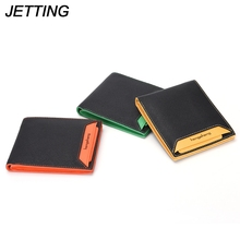 JETTING brand Wallet men leather men wallets purse short male clutch leather wallet mens money bag quality guarantee