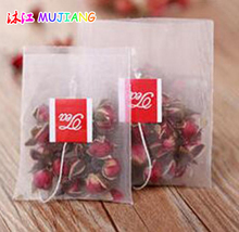 100pcs/lot Pyramid Nylon Empty Tea Bags Filters String with TEA Tag Transparent Teabag 5.6*7CM 6.5*8CM
