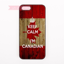 canada flag keep calm i'm canadian Maple leaf Hard Back Cover Phone Case For iphone 4 5 5s 5c se 6 6S plus 7 7 Plus case bright