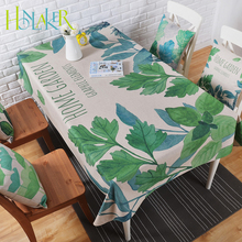 Honlaker Modern Pastoral Style Rectangular Table Cloth Round Table Cover Cotton Linen Tablecloth
