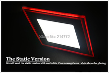 New 3D Effect Red LED Suspended Ceiling Light 15W Panel Light  With Driver 110V 220V  Free Shipping