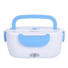 EU PLUG! 2 colors Electric Portable Heated Lunch Food-grade Food Container Set Food Warmer With For kids School Box(China)