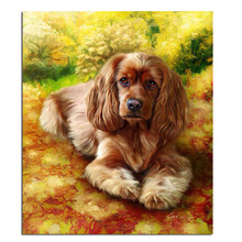 Big Ear Dog 30x35cm Full diamond cross stitch kits decorative variety of Beautiful pictures so you have a unique home decor(China)