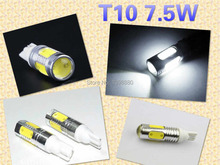 10 X T10 LED 7.5w  Len Projector White Side Wedge Bulb W5W 194 168 2825 158 Car Interior Exterior Light Auto Part Good Quality