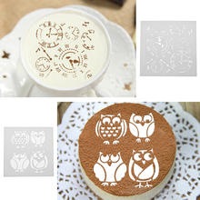 3Pcs Clock Animal Cage Plastic Cake Stencil Fondant Cake Cookies Mold DIY Mold Cake Decorating Tools for Wedding Birthday