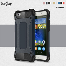 Wolfsay For Huawei P8 Lite Cover Durable Armor Silicone TPU PC Phone Case For Huawei P8 Lite Case For Huawei P8 Lite Fundas *<