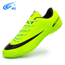 ZHENZU Professional Men Turf Indoor Soccer Shoes Cleats Kids Original Superfly futsal Football Boots Sneakers chaussure de foot(China)