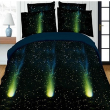 3d Galaxy Polyester Bedding Set Duvet Cover Sets Soft Bed Linen Flat Bed Sheet Set Pillowcase bed cover housse de couette