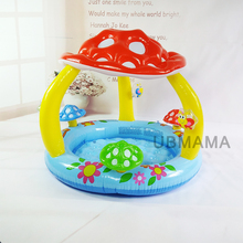 Children at the bottom of an inflatable swimming pool with baby mushroom awning pool sea pool basin(China)