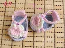 Crochet PATTERN for baby booties Baby Crochet Sandals, Crochet Baby Shoes Free shipping(China)