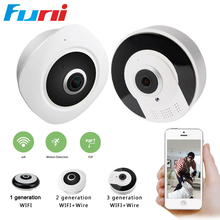 Funi VRC3601 Mini Wifi IP Camera 360 Degree Camera IP 3MP Fisheye Panoramic 960P WIFI PTZ IP Cam Wireless Video Camera