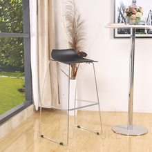 Minimalist Modern Design Plastic and Metal Steel Bar Stool Nice Popular Bar Furniture Bar Chair Living Room Counter Stool