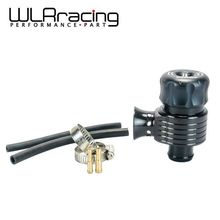 WLRING- Black 50/50 Recirc Valve & Dump Valve Bov Blow off Valve for AUDI A3 S3 A4 A6 A8 S4 TT 1.8 20v RACING TURBO WLR5743BK