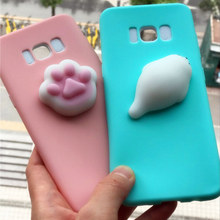 3D Silicon Lovely Cute Cat Seal Sea Lion Soft Squishy Phone Case For Samsung Galaxy Note 8 S8 Plus S7 A3 A5 J3 J5 J7 2016 2017(China)