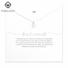 FOMALHAUT bridesmaid round green chalcedony 45cm Chain Pendant Necklaces Clavicle Chains necklace Fashion Women Jewelry(China)