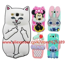 For Samsung Galaxy S3 Case Cover 3D Silicone Minnie Stitch Cupcakes Ice Cream Owl Cartoon Phone Cases For Samsung S3 i9300(China)
