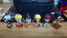 1pc random character  7cm PVC Naruto  keychain action figure set Edition Toy Collection Naruto japanese anime figures Model toy