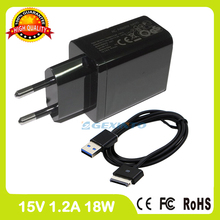 15V 1.2A Tablet pc charger For Asus Eee Pad Transformer TF101 TF101G TF300 TF301 TF201 TF300T Wall Adapter ADP-18BW A EU plug