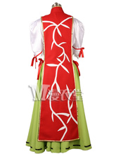 Touhou Project Wild and Horned Hermit Ibara Kasen Cosplay Costume Dresses M006