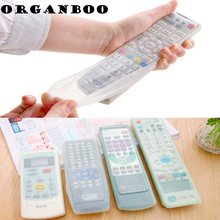 1PCS Silicone Waterproof Dust Protective Storage Bag Organizer TV Remote Control Cover Air Condition Control Case 4 Size